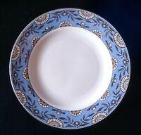 Set Of 8 Blue Martha Stewart rosette Wedgewood Dinner Plates