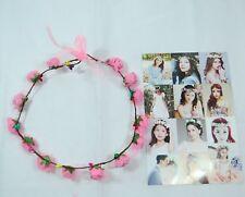Women's delicate flower wreath festival Headband crown Light Pink faux Roses B