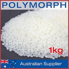 Polymorph 1kg DIY mouldable plastic pellets melts at 62°C: Polycaprolactone, PCL