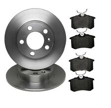 SEAT VW AUDI SKODA  2 x REAR BRAKE DISCS (solid) & BRAKE PADS  (4)