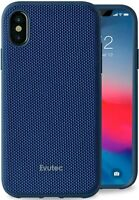Evutec AERGO iPhone Xs Max, Blue Ballistic Nylon Case Cover & Free Vent Mount