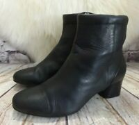 Womens Clarks Unstructured Un Cosmo Up Black Leather Ankle Boots UK 6 D EUR 39.5
