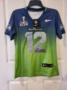 Nike Stitched NFL FAN Jersey Seattle Seahawks Superbowl Youth XLVIII