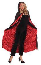 Deluxe Rosso & Nero BARA Mantello Vampiro Vampiressa Halloween Fancy Dress