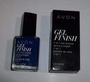 Avon Gel Finish 7 in 1 Blue Shimmer Sapphire Up Nail Polish