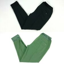 Puma Jogger Pants Black Thyme Green Womens SZ Small ( 597722 )