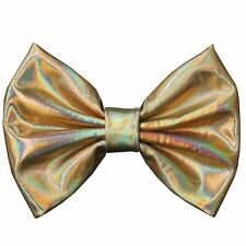 Messy  Metallic Bow Hair Clip(iridescent Gold)