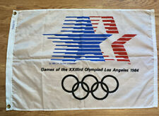 1984 Los Angeles Olympic Games large 5-foot official flag stars-in-motion