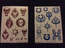 Warhammer 40k Ultramarines and Word Bearers Stickers (1 of each)