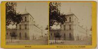 Seville Palais San Telmo Spagna Foto Stereo Th1L8n Vintage Albumina c1870
