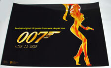JAMES BOND POSTER WORLD IS NOT ENOUGH 1999 CINEMA  ISSUED  MINI QUAD 16x12 ins