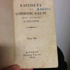 1819 GOLDONI - RACCOLTA DI COMMEDIE SCELTE - TOMO VII -
