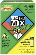 Emergen-C Electro Mix Lemon-Lime 30 Packets 0 14 oz 4 g Gluten-Free EXP: 01/2021