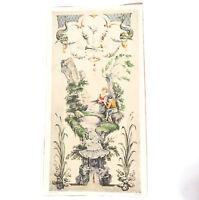 Jean Antoine Watteau Nichol Lithograph Print 8.25x15.75  No. 2
