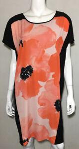 As new! SAINTS THE LABEL orange print lined dress  ~  sz M 12+