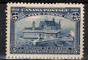 CANADA Scott 99 Mint Hinged Disturbed Gum ## 1 cent start ##