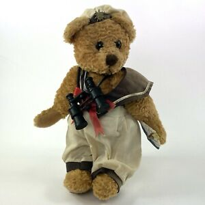"""Show Stoppers Sailor Bear 10"""" Plush w/ Stand - Binoculars Boat Hat"""