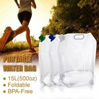 15L Portable Folding Water Storage Bag Eco-friendly Outdoor Camping Drinking