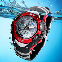 SKMEI Men Date Sport Quartz LED Waterproof Digital Fashion Analog Watch Boy Girl
