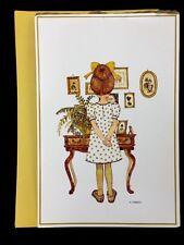 Vintage 1972  Giant Holly Hobbie Greeting Card Girl American Greetings 1972