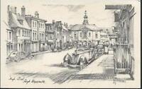 High Wycombe, Buckinghamshire - High Street, old cars - RA postcard c.1930s