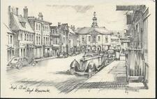 High Wycombe, Buckinghamshire - High Street, old cars - RA postcard c.1930s