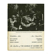 1942 Museum of Modern Art Bulletin EXHBT NOTES + ACQUISITIONS Latin America WWII