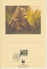 ENCART WWF  FDC  PRIVIDAN 11101 BEOGRAD  OURS 1988