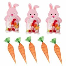 Kids Easter Party Candy Bags Home Decors Diy Carrot Cones Cookies Storage Supply