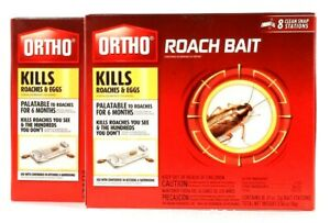 2 Boxes Ortho Roach Bait Palatable For 6 Months 8 Count Clean Snap Stations