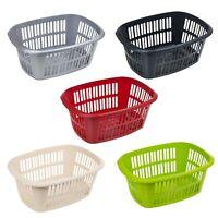 Large 55L Rectangular Laundry Basket Handles Storage Washing Bin Hamper Plastic