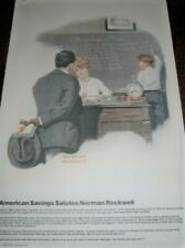 KNOWLEDGE  IS POWER NORMAN ROCKWELL PRINT BY AMERICAN SAVINGS RARE!