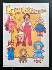 Lumox & Patty Lee Doll Paper Dolls by Pat Frey, 1983 National Doll W.