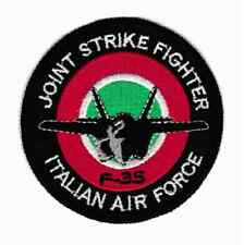 [Patch] ITALIAN AIR FORCE F-35 diametro cm 8 toppa ricamata ricamo REPLICA -702