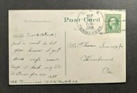 1915 USS Tennessee Dry Dock Navy Yard Portsmouth NH Picture Postcard Cover to CA