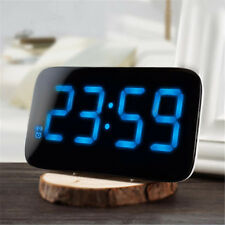 Digital LED Display Sound Control Clock Desk Calendar Snooze Alarm Clock Car LCD