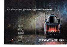 PUBLICITE ADVERTISING 037  1988  Cheminées Philippe (2p) 2