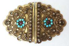 Fermoir de bracelet collier en argent massif 19e siècle Empire Ottoman clasp