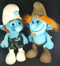 "Jakks Smurf Plush Toy Lot 2 Smurfs 11"""