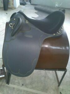 Stock Synthetic Black Saddle without Horn Free Shipping