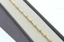 """14K Solid Yellow Gold 6.0ct Oval Cut Opal & Love Bow Shaped Link Bracelet - 7"""""""