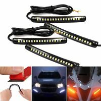 4x Flexible 17 LED DRL Strip Tail Light Turn Signal Indicator RUNning Motorcycle