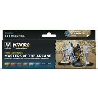 Vallejo WizKids Masters of the Arcane Game Color Acrylic Paint Set of 8 Colors
