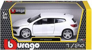 Burago 1/24 Diecast Model VW Scirocco R in White #18-21060-Brand New and Boxed