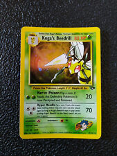 Koga's Beedrill Gym Challenge 9/132 Holo Eng Great Condition