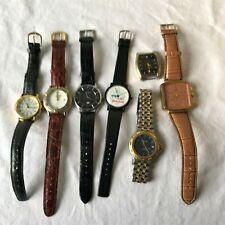 Quartz Watch Lot Ceres Adidas Terner Adi Halston Elgin Disney Lorus