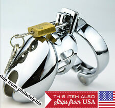Male Stainless Steel Chastity Device Cage Locking