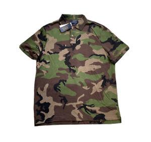 Polo Ralph Lauren Classic Fit Mesh Golf Polo Shirt Camo New W/Tags Men's L