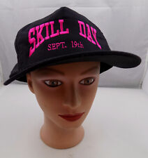 SKILL DAY  SEPTEMBER 19TH HAT BLACK SNAPBACK BASEBALL CAP PRE-OWNED ST27
