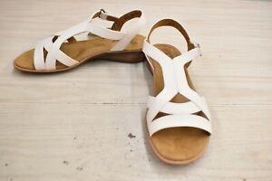 Natural Soul Joslen Sandals, Women's Size 8.5 W, White NEW